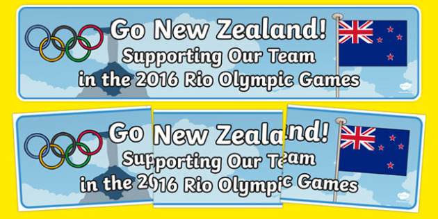 New Zealand 2016 Rio Olympics Banner - nz, new zealand, 2016 rio olympics, display banner