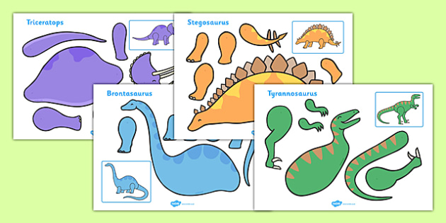 Dinosaur Split Pin Characters - split pin, pin, dinosaur, disnoaurs, animals, herbivores, carbivores, making a split pin, moving, puppet, activity, creativity