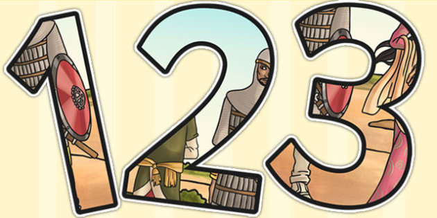 Early Islamic Civilization Themed Display Numbers - islam, number