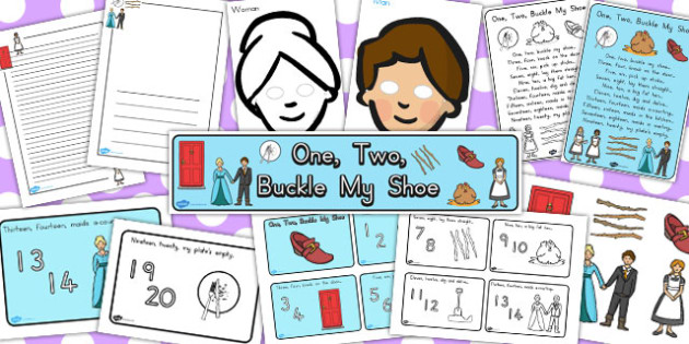 One Two Buckle My Shoe Resource Pack - australia, shoe, pack