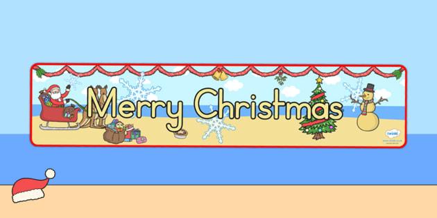 Australia Christmas Display Banner Merry Christmas - christmas, banner