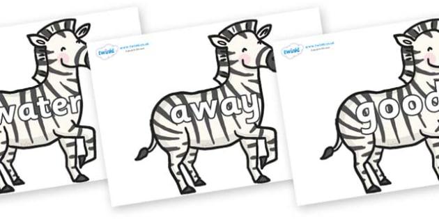 Next 200 Common Words on Zebras - Next 200 Common Words on  - DfES Letters and Sounds, Letters and Sounds, Letters and sounds words, Common words, 200 common words