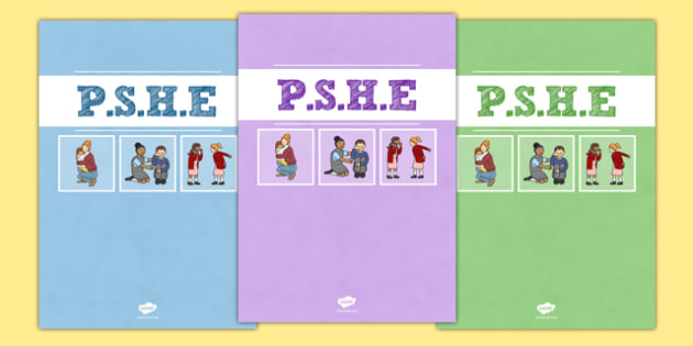 PSHE Divider Covers - pshe, personal social health and economic education, divider covers, divider, cover