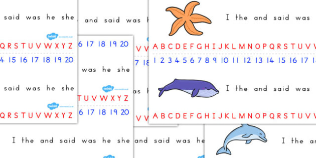 Great Barrier Reef Combined Number Alphabet Strips - australia