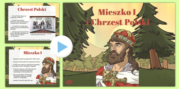 Mieszko I and the Baptism of Poland PowerPoint Polish - polish, mieszka i, baptism, poland, powerpoint, ruler, christianity, state