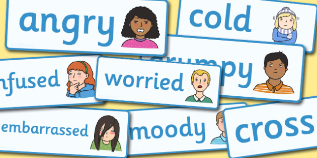 emotions, word cards, flashcards,  feelings, special needs, labels