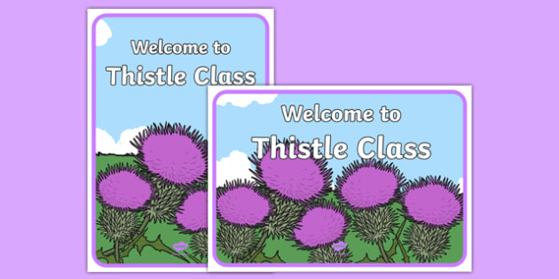 Welcome to Thistle Class Display Posters - welcome, thistle, class, display posters, display, posters