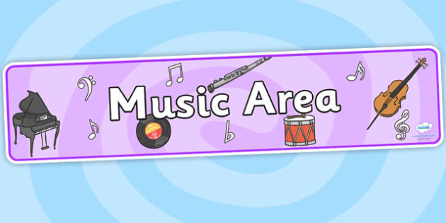 Music Area Sign - Classroom Area Signs, KS1, Banner, Foundation Stage Area Signs, Classroom labels, Area labels, Area Signs, Classroom Areas, Poster, Display, Areas, Listening Area, Music Area, Music