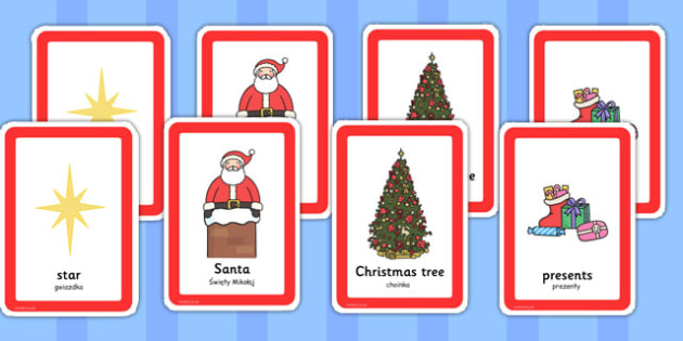 Christmas Pairs Matching Game Polish Translation - comparing, match, festive, fun and games, early years, key stage 1, key stage 2,