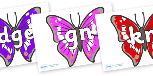 Silent Letters on Emperor Butterflies - Silent Letters, silent letter, letter blend, consonant, consonants, digraph, trigraph, A-Z letters, literacy, alphabet, letters, alternative sounds