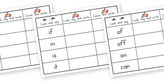 High Frequency Words Writing Practice Worksheets - australia,