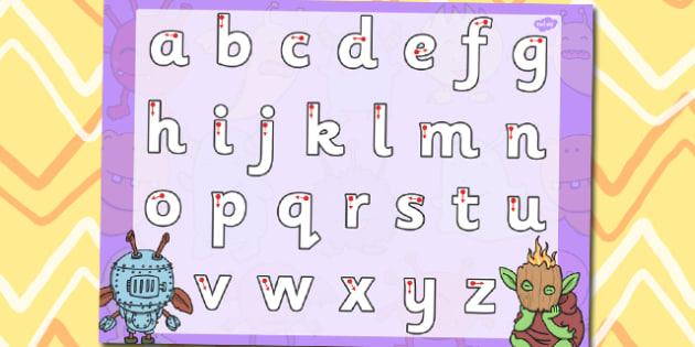 Monster Themed Letter Writing Worksheet - letter writing, monster