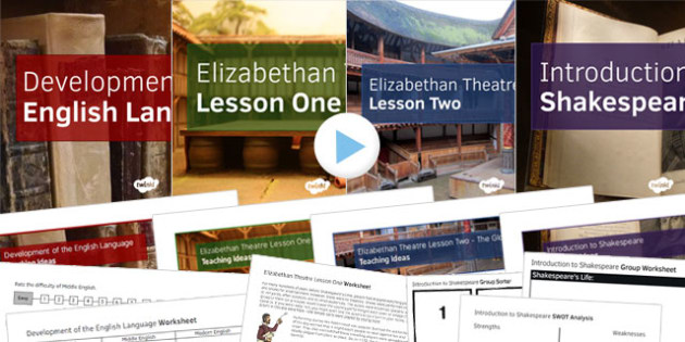 Introduction to Shakespeare Lesson Pack - shakespeare, lesson