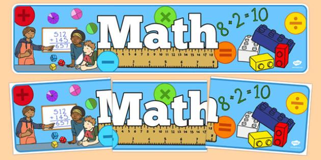 Math Display Banner - usa, america, math, display banner, display, banner