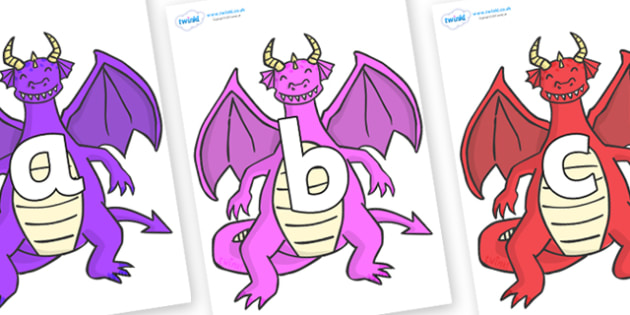 Phoneme Set on Dragons (2) - Phoneme set, phonemes, phoneme, Letters and Sounds, DfES, display, Phase 1, Phase 2, Phase 3, Phase 5, Foundation, Literacy