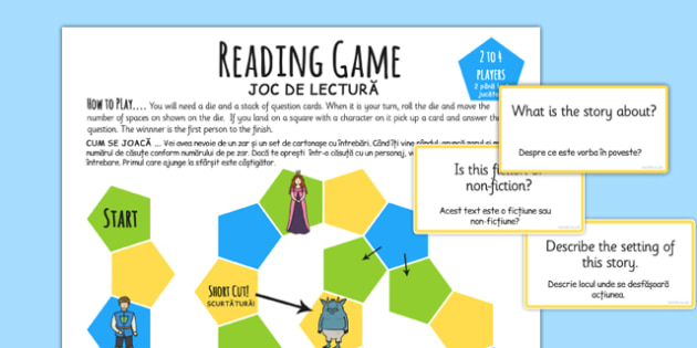 Reading Comprehension Board Game Romanian Translation - romanian, reading, comprehension, board game