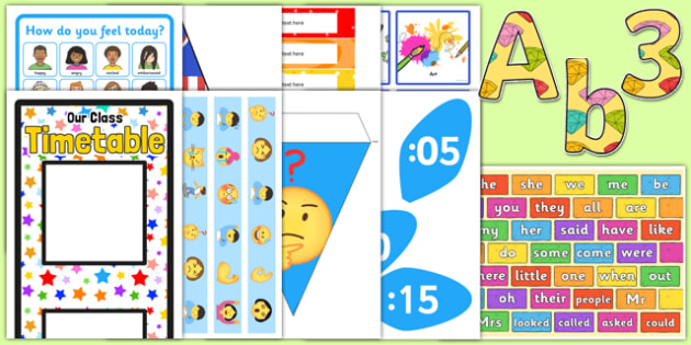 KS1 Top 10 Teaching Assistant Classroom Set Up Resource Pack