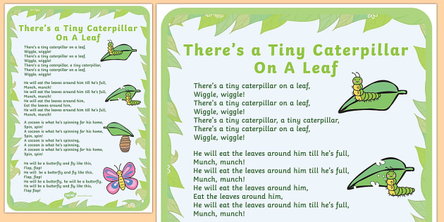 Tiny Caterpillar Rhyme Poster - minibeasts, poems, poetry, poem