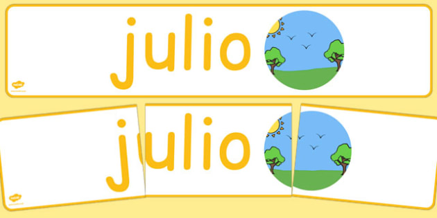 Julio Display Banner Spanish - spanish, year, months of the year, july