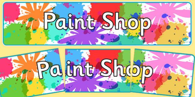 Paint Shop Role Play Display Banner - paint shop, role-play, display banner, display, banner