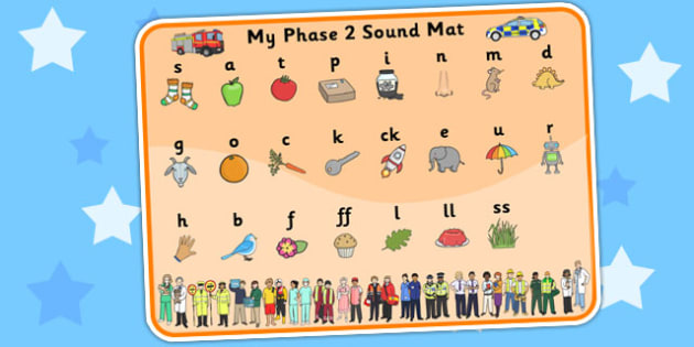 People Who Help Us Themed Phase 2 Sound Mat - phase two, sounds