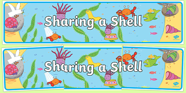Display Banner to Support Teaching on Sharing a Shell - story books, header, display
