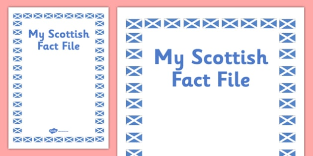 My Scottish Fact File Template Front Cover - cfe, fact file, template, scottish, front cover