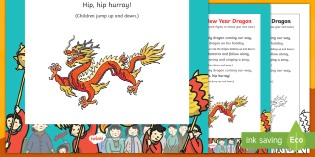 Chinese New Year Dragon Rhyme - chinese new year, dragon, rhyme, chinese dragon, dragon rhyme