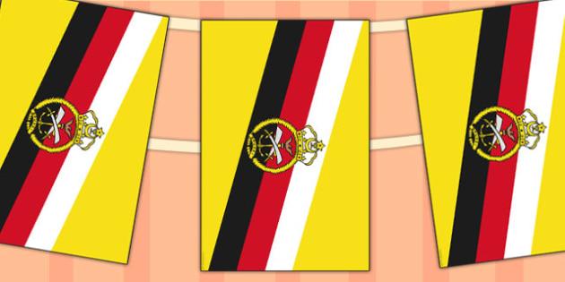 Brunei Flag Display Bunting - commonwealth, display, flags, flag