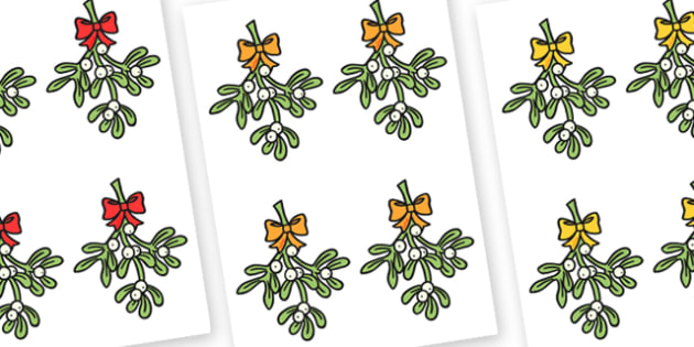 Mistletoe Editable  - mistletoe, christmas, display, editable
