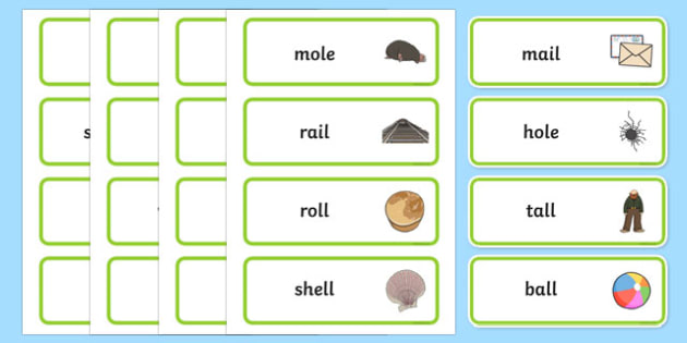 Final 'L' Sound Word Cards - final l, sound, word cards, word, cards