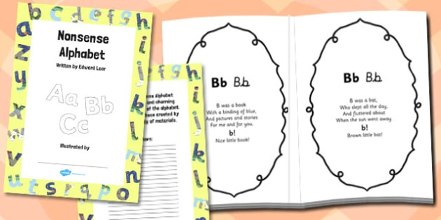 Nonsense Alphabet - nonsense alphabet, art and design, art
