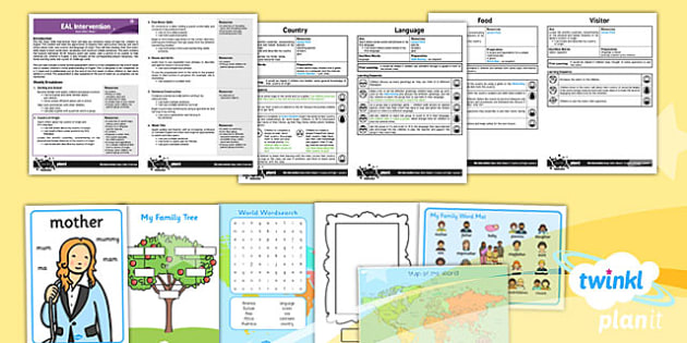 PlanIt - EAL Intervention - Basic Skills: Country of Origin Pack