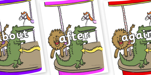 KS1 Keywords on Trick 3 to Support Teaching on The Enormous Crocodile - KS1, CLL, Communication language and literacy, Display, Key words, high frequency words, foundation stage literacy, DfES Letters and Sounds, Letters and Sounds, spelling
