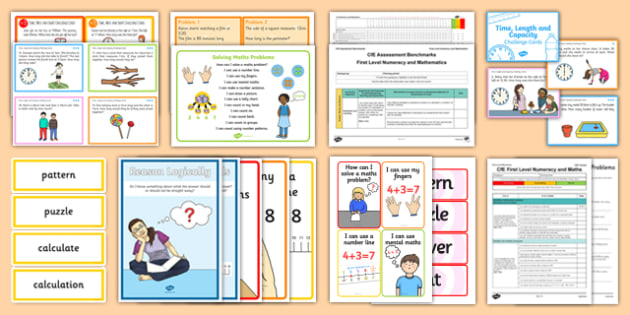 CfE Numeracy and Mathematics – First Level – Problem Solving Resource Pack