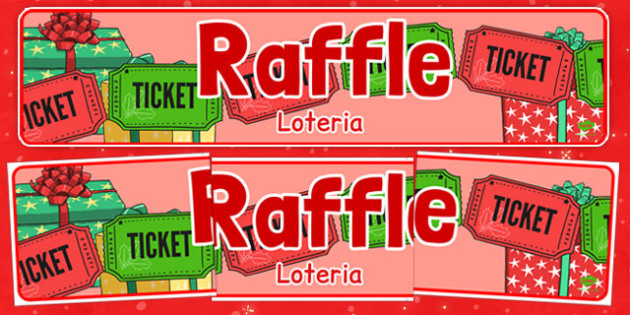 Christmas Themed Raffle Banner Polish Translation - polish, christmas, themed, raffle, banner, display