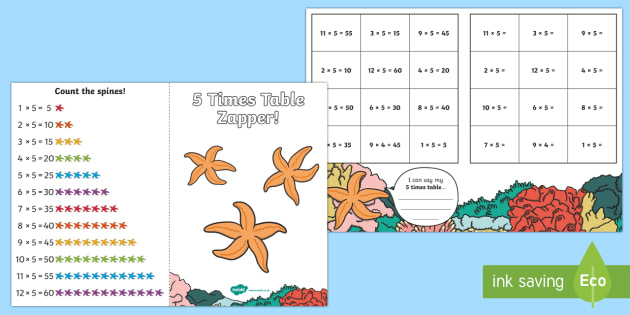 5 Times Table Zapper