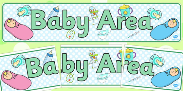 Baby Area Display Banner - banners, displays, babies, poster