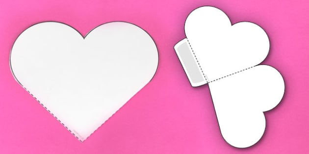 Interactive Heart-Shaped Pocket Visual Aid Template - heart, aid