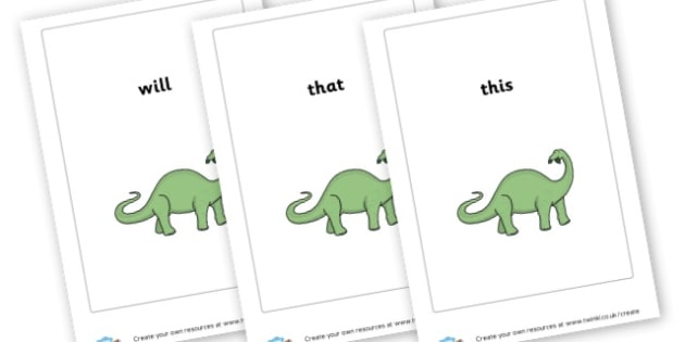 Dinosaur Phase 3 High Frequency words - Phase 3 Visual Aids Primary Resources, Phase One, Letters, sounds