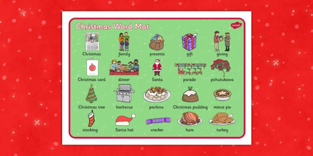 Christmas Word Mat NZ - nz, new zealand, christmas, word mat, word, mat