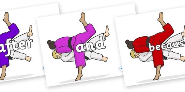 Connectives on Judo - Connectives, VCOP, connective resources, connectives display words, connective displays