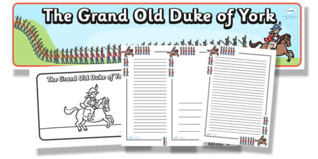 The Grand Old Duke Of York Resource Pack - the grand old duke of york, resource pack, pack of resources, themed resource pack, grand old duke of york pack