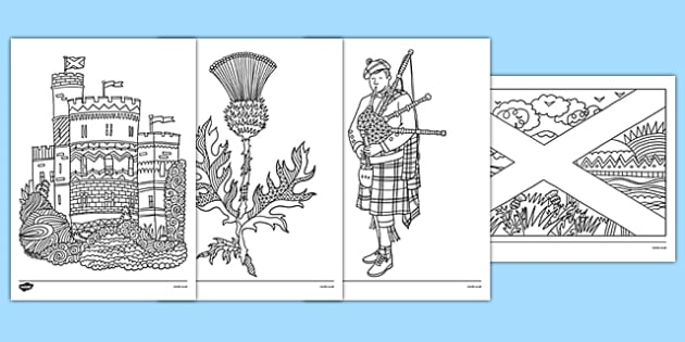 Scotland Mindfulness Colouring Sheets - cfe, scotland, mindfulness, colouring, sheets, colour