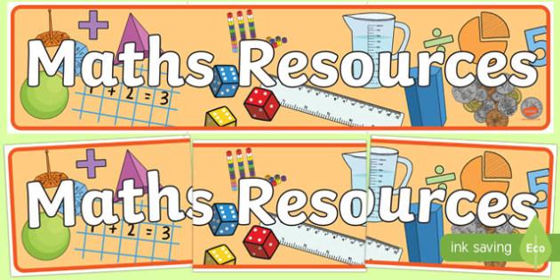 Maths Resources Display Banner - maths, resources, display banner, display, banner, mathematics