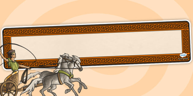 Ancient Greece Editable Banner Template - greece, ancient, banner