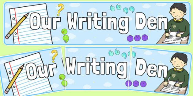 Writing Den Display Banner - writing den, display banner, display, banner