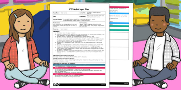 The Musical Maestro and the Detective EYFS Adult Input Plan