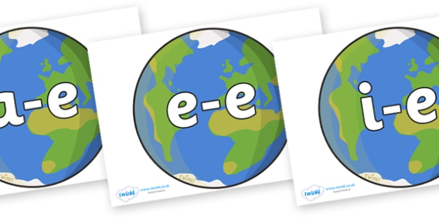 Modifying E Letters on Earth - Modifying E, letters, modify, Phase 5, Phase five, alternative spellings for phonemes, DfES letters and Sounds