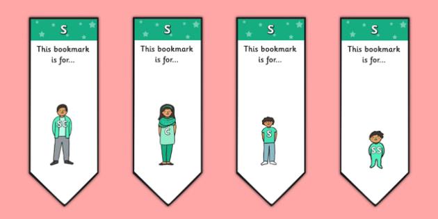 s Sound Family Editable Bookmarks - s sound family, editable bookmarks, bookmarks, editable, behaviour management, classroom management, rewards, awards